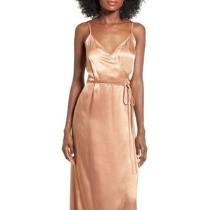 Wayf • Teagan Satin Wrap Maxi Dress
